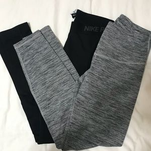 Nike Drifit Full Length Leggings + Old Navy Active